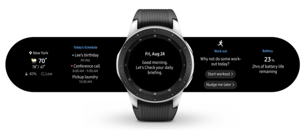 Samsung Galaxy Watch options