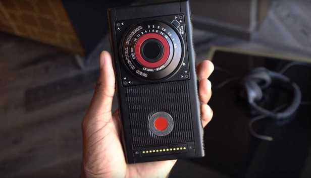 Red Hydrogen one with extra lenses