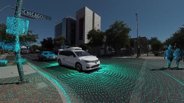 Waymo self-driving cars